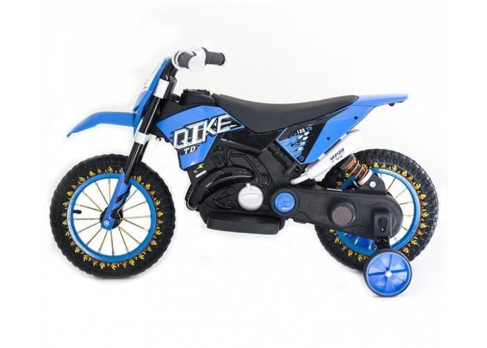 Детский кроссовый электромотоцикл Qike TD Blue 6V - QK-3058-BLUE