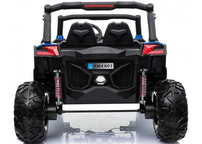 Двухместный полноприводный электромобиль Blue Spider UTV-MX Buggy 12V - XMX603-BLUE-PAINT