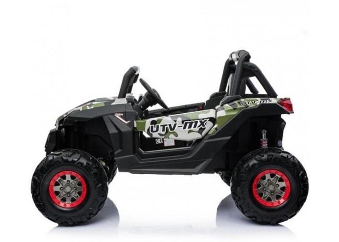 Двухместный полноприводный электромобиль Camouflage UTV-MX Buggy 12V - XMX603-GREEN-PAINT