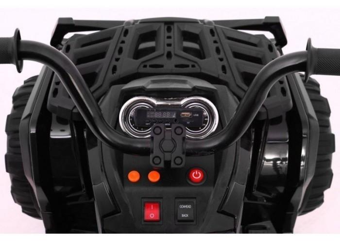 Детский квадроцикл Grizzly ATV 4WD Black 12V с пультом управления - BDM0906-4