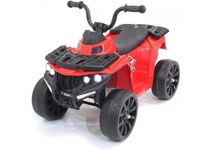 Детский квадроцикл R1 на резиновых колесах 6V - 3201-RED