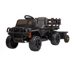 Детский электромобиль Bettyma квадроцикл с прицепом 2WD 12V - BDM0926-BLACK