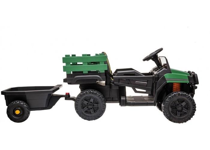 Детский электромобиль Bettyma квадроцикл с прицепом 2WD 12V - BDM0926-GREEN